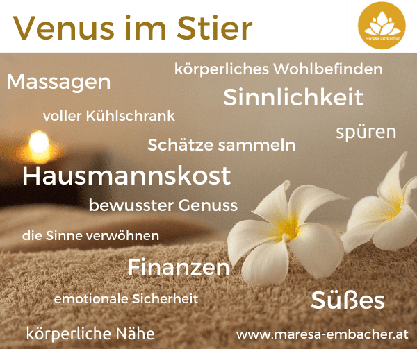 Venus im Stier - Maresa Embacher
