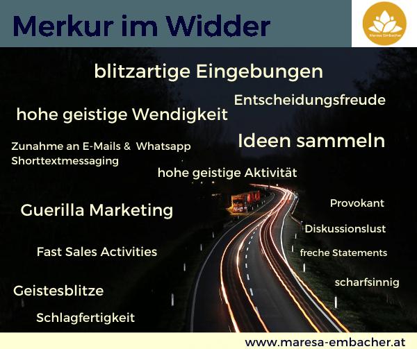 Merkur im Widder - Maresa Embacher