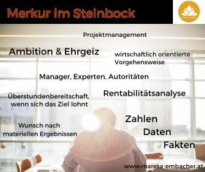 Merkur im Steinbock - Maresa Embacher