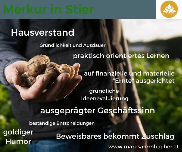 Merkur im Stier- Maresa Embacher