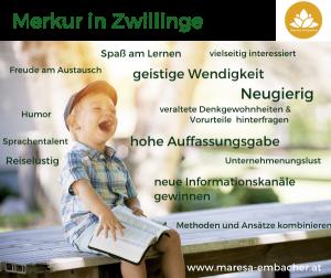Merkur in den Zwillingen - Maresa Embacher