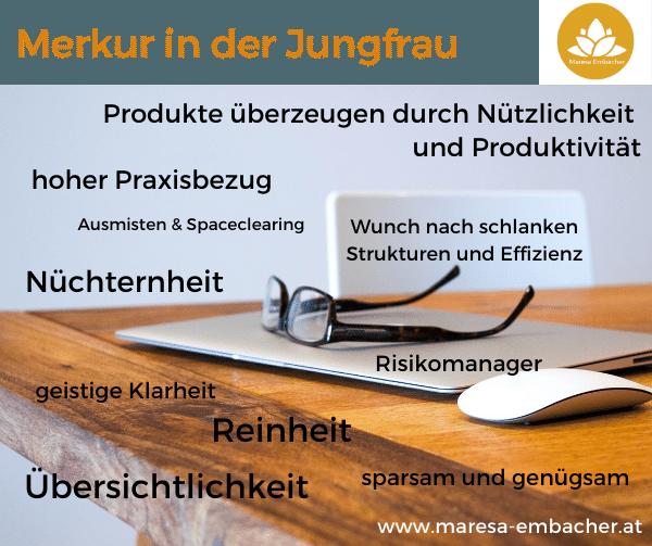 Merkur in der Jungfrau - Maresa Embacher