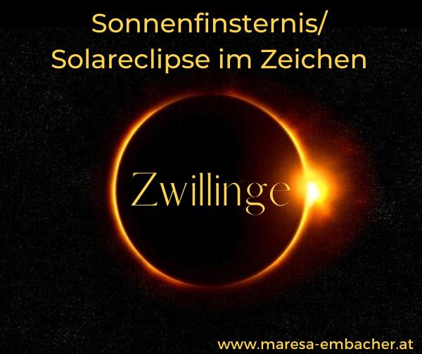 Sonnenfinsternis im Zeichen Zwillinge Juni 2021 Maresa Embacher