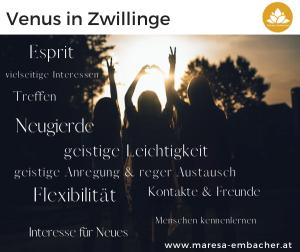 Venus in Zwillinge - Maresa Embacher