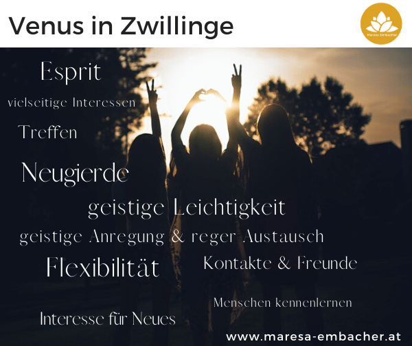 Venus in Zwillinge - Maresa Embacher